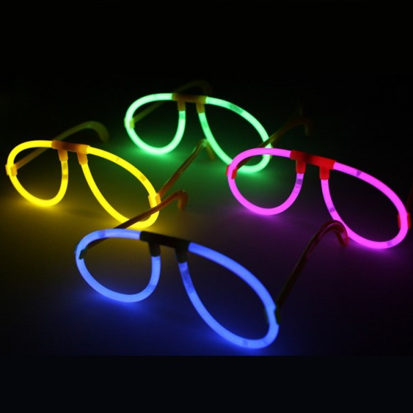 Pulseras Luminosas + Regalos , barritas luminosas , gafas fluorescentes aviador