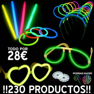 LOTE PRODUCTOS LUMINOSOS