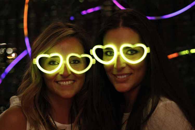 gafas luminosas corazón