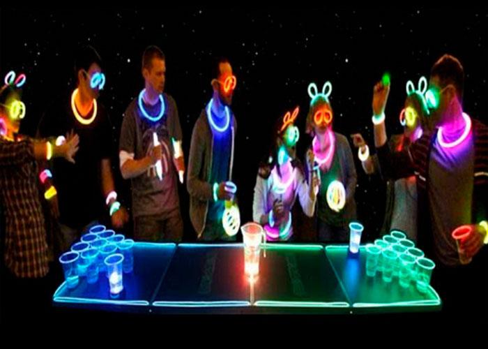 mesa beer pong luminosa