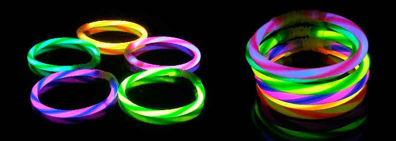 pulseras luminosas fluorescente regaliz